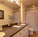 The Master Bathroom has Dual Sinks