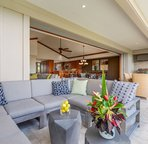 Upstairs lanai living room seating. Lounge in style and supreme comfort in paradise!