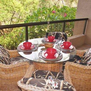 Spacious Lanai offers outdoor dining