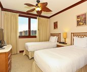 The Second Bedroom has Two Twin Beds that can be Converted to a King Size upon Request