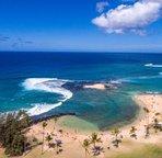 A safe beach just a short walk toward the ocean.