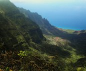 View of Kalalau from Kokee Park on West side