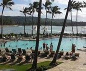Pool at Turtle Bay Resort. Walking distance