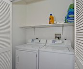 The Home is Equipped with a Full Size Laundry Center