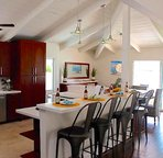 Gourmet kitchen with top-of-the line appliances.