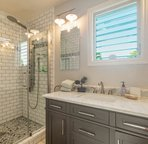 Master bathroom with state of the art shower!