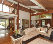 Gorgeous Open Beam Ceiling Throughout the House