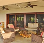 Covered Lanai with Comfortable Furnishings