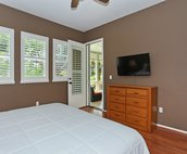 The Master Bedroom with Flat Screen TV