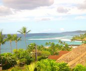 The upper deck has a panoramic view of the Poipu coastline