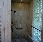 Master Bath Shower and Soaking Tub