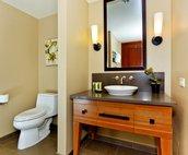 The Villa's Second Full Bath has a Walk-in Shower
