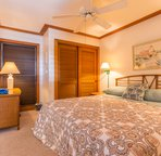 Comfortable King Sized Bed awaits you after a day of exploring Kauai!