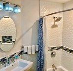 Third bathroom with designer details.