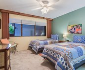 Bedroom 2 with twin beds. Convertible to a King upon request for an add'l fee