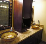 Master Bath with Double Vessel Sinks