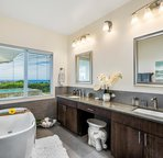 Spa like soaking tub with ceiling fill. Soak and view the ocean at the same time!