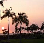 Beautiful sunset seen from the lanai